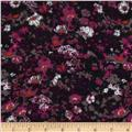 Stretch Hatchi Knit Floral Pink/Black