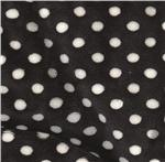Minky Cuddle Mini Polka Dots Black/White