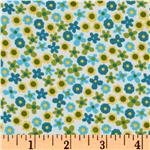 FA-941 Kaufman 21 Wale Cool Cords Flowers Blue