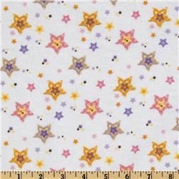 Alpine Sweet Lullaby Flannel Stars White