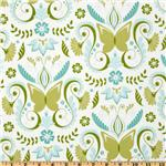 Michael Miller Bella Butterfly Butterfly Damask Aqua