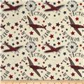 Riley Blake Maverick Tossed Large Airplanes Red/Cream