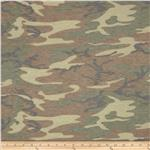 0300653 Stretch Jersey Knit Abstract Camo Green/Tan