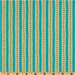 Moda Sassy Dotty Stripes Aqua