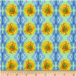 Impressions Sunflower Stripe Blue