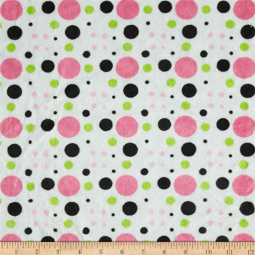 Minky Cuddle Venus Dots Lime/Black
