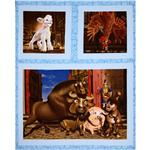 The Lion Of Judah Wallhanging/Pillow Panel Blue