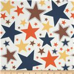 Riley Blake Super Star Flannel Large Star White