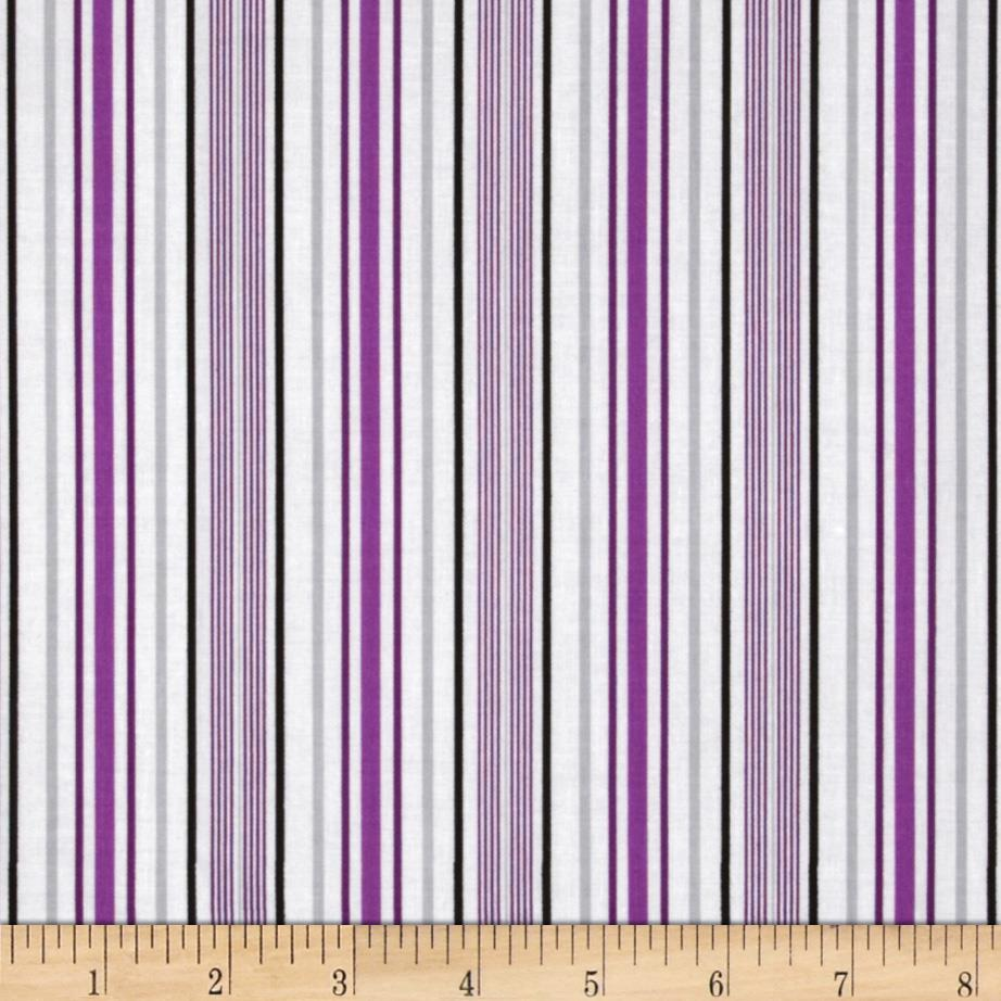 Amethyst Stripe White/Purple