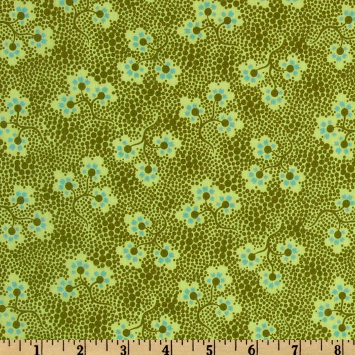 Amy Butler Cameo Voile Forget Me Not Olive
