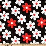 CN-506 Michael Miller Plain Jane Lil Daisy Red