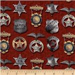 Round'em Up Sheriff Badges Red