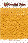 MT-009 Moda Flat Crochet Trim Yellow 3 yd/pkg