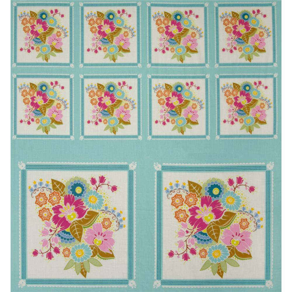Anna Maria Horner Little Folks Voile Square Dance Panel Sweet Aqua