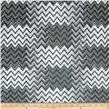 Silky Hatchi Knit Chevron Black/Grey