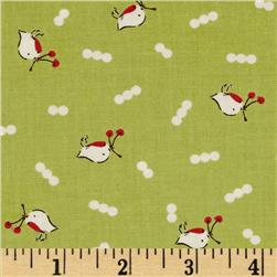 Moda Cherry Christmas Birds & Berries Noel Lime