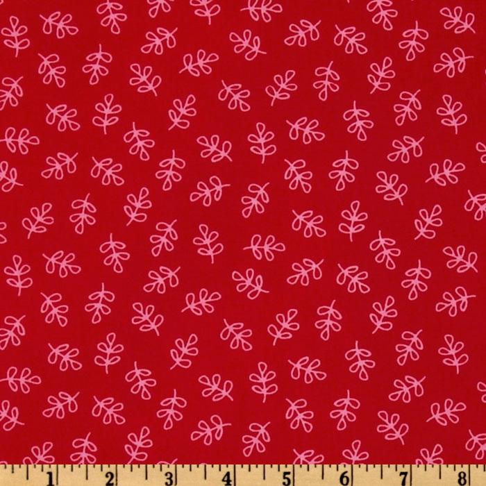 Michael Miller Nordic Holiday Holly Folly Red