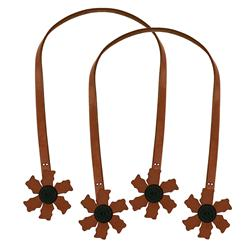 Cindy's Purse Straps 32'' Flower Tan