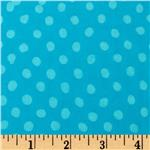 Indian Batik Eastside Pucker Dot Turquoise