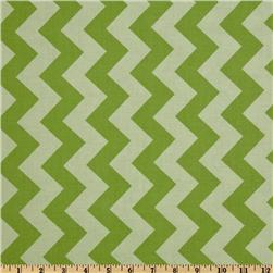 Riley Blake Chevron Medium Tonal Green