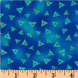 Laurel Burch Basics Triangle Blue