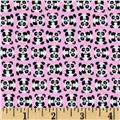 Timeless Treasures Mini Pandas Pink
