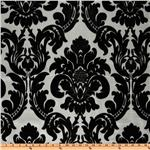 UM-315 Dior Flocked Damask Silver/Black