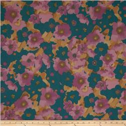 Cotton Lawn Floral Lavendar/Teal