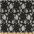 Xanna Floral Lace Fabric Black