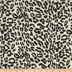 Designer Stretch Sparkle Hatchi Knit Leopard Black/Cream