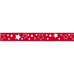 "Riley Blake 3/8"" Grosgrain Ribbon Stars Red"