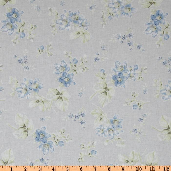 Treasures by Shabby Chic Wildflowers Medium Floral Blue