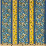 St. Croix Paisley Stripe Blue/Yellow