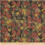 Jonquil Shirting Faded Floral Red/Grey