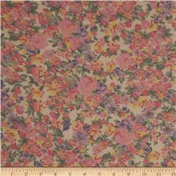 Cotton Lawn Garden Pink/Yellow