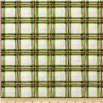 Jolly Snowman Plaid White/Green