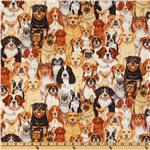ED-585 Timeless Treasure Dogs Multi