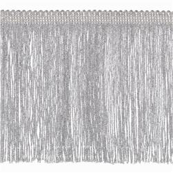 "6"" Metallic Chainette Fringe Trim Silver"