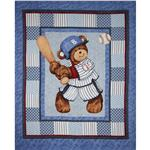 FK-196 Billy Bear At Bat  Home Run Panel Blue