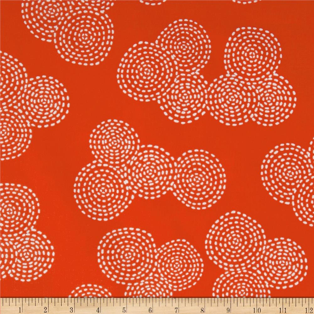 Michael Miller Stitch Floral Circle Red
