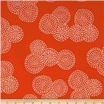 0290501 Michael Miller Stitch Floral Circle Red