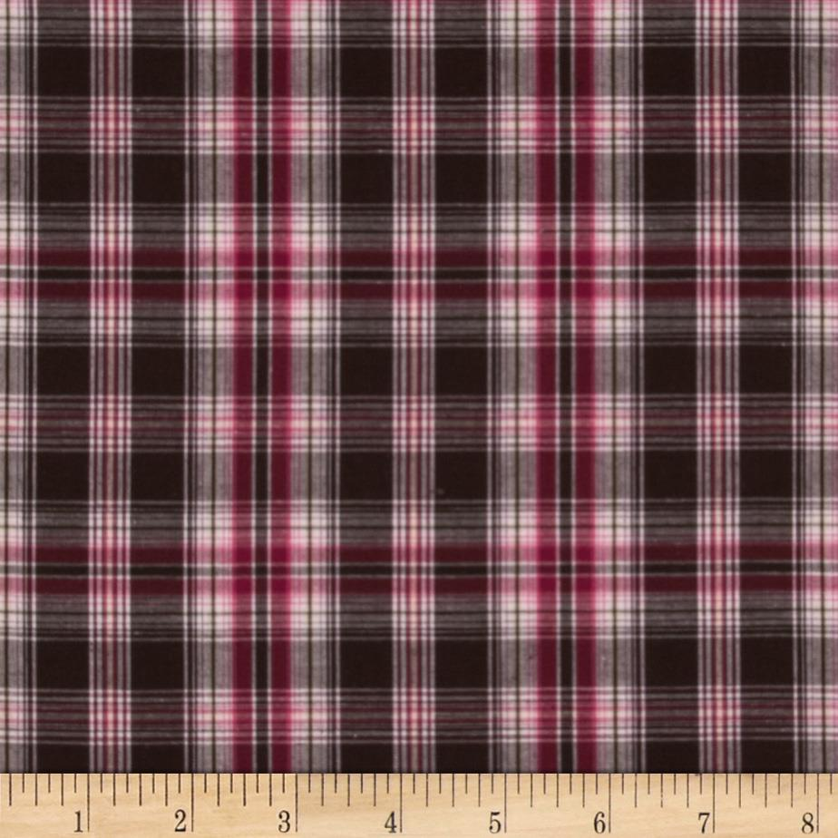 Prepster Stretch Yarn Dyed Shirting Plaid Berry/Pink