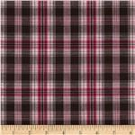 0265017 Prepster Stretch Yarn Dyed Shirting Plaid Berry/Pink