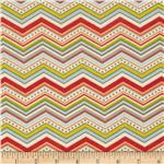 0278887 Riley Blake One For The Boys Flannel Chevron Cream
