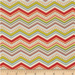 Riley Blake One For The Boys Flannel Chevron Cream