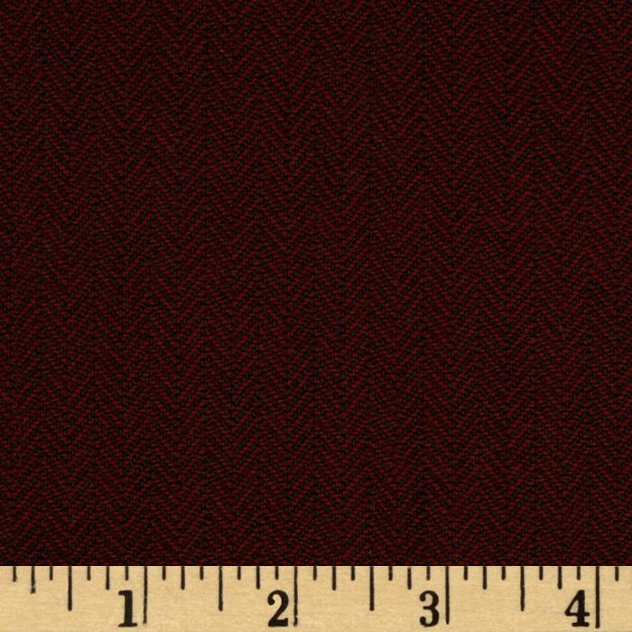 Designer Yarn Dyed Suiting Herringbone Burgundy