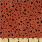 Ramblin' Woods Paw Prints Orange