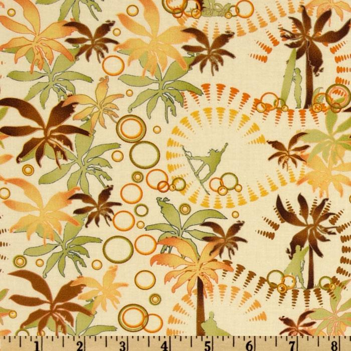 Sunset Beach Palm Trees Cream