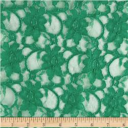 Xanna Floral Lace Fabric Emerald