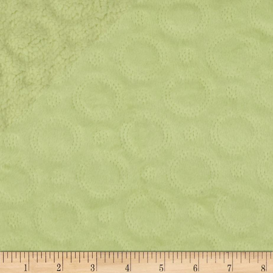 Minky Cuddle Quilted Crop Circles Sage